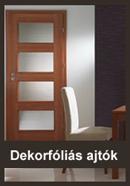 dekórfóliás beltéri ajtó